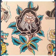 Body Art Tattoos, Cool Tattoos, Antique Tattoo, Tattoo Flash Sheet, Biker Tattoos, Traditional Tattoo Design, Traditional Tattoo Flash, Vintage Flash, Sweet Tattoos