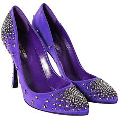 Pre-owned Purple satin pumps with Rhinestone (32465 ALL) ❤ liked on Polyvore featuring shoes, pumps, heels, purple, scarpe, violet, rhinestone heel pumps, sergio rossi pumps, purple rhinestone shoes and purple satin shoes
