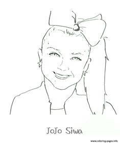 Free Printable Jojo Siwa Coloring Pages تلوين In 2019 Jojo Siwa