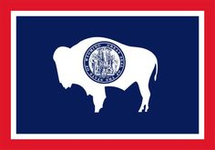 """Wyoming State Flag                                                                                   44th State - July 10, 1890                                                                           Motto - """"Equal Rights""""                                                                                 Capital - Cheyenne"""