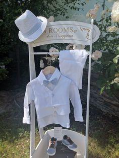 Ανάλαφρο βαπτιστικο σύνολο σε λευκό χρώμα με γιλέκο. Ruffle Blouse, Tops, Women, Fashion, Moda, Fashion Styles, Shell Tops, Fashion Illustrations