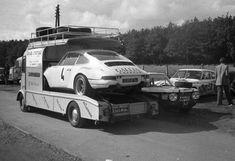 Porsche on Citroen HY race transporter. 111230113053490253