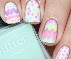 Perfect spring nails  | See more at http://www.nailsss.com/colorful-nail-designs/2/ Easter nails!