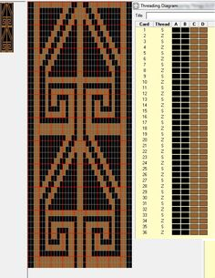 Diseño Pampa doble faz, 36 tarjetas, 2 colores, repite cada 46 movimientos // sed_383_DF diseñado en GTT༺❁
