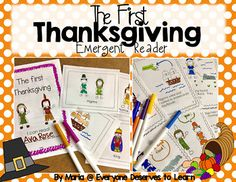 Students can practice reading, sequencing, and Thanksgiving vocabulary in this mini-book. Two pages of Thanksgiving vocabulary cards are provided to pre-teach vocabulary. Make two copies and use them as a concentration game! Perfect for