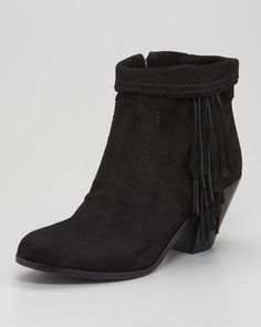 Sam Edelman Louie Fringe Bootie - Neiman Marcus---MUST HAVE this fall.