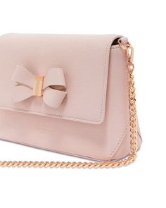 64f396e0891c Ted Baker Bowii Bow Detail Mini Bark Leather Crossbody Women -  Bloomingdale s