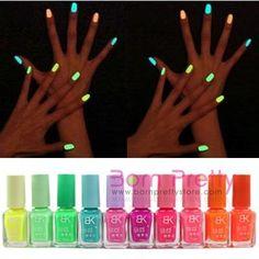 Candy Colors Fluorescent Neon Luminous Nail Art Polish Glow In Dark Varnish 7ML