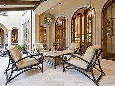 Plan W36484TX: Mediterranean House Plan with Stunning Master / Veranda