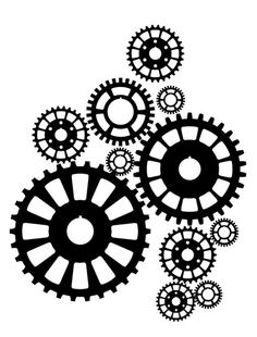 Steampunk Gears Wall Decal