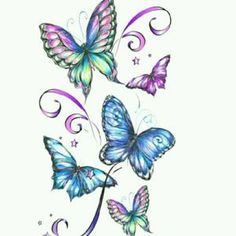 This is a 5 x 7 temporary tattoo of a blue and purple glitter butterfly. Glitter Temporary Tattoos with Butterflies are very beautiful. Butterfly Temporary Tattoos are extremely popular and we have the best d Fake Tattoos, Flower Tattoos, Body Art Tattoos, New Tattoos, Tatoos, Butterfly Drawing, Butterfly Tattoo Designs, Butterfly Wallpaper, Purple Butterfly Tattoo