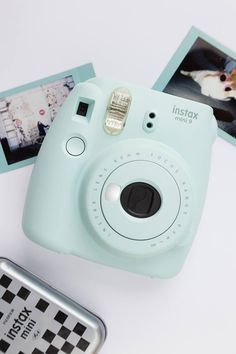 Cute and compact Instax Mini 9 instant photo camera.