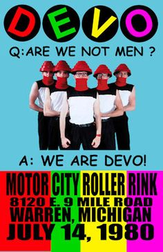 """DEVO 1980  Concert poster Warren Michigan   $8.00 • 100% Mint unused condition • Well discounted price + we combine shipping • Click on image for awesome view • Poster is 12"""" x 18"""" • Semi-Gloss Finish • Great Music Collectible - superb copy of original • Usually ships within 72 hours or less with tracking. • Satisfaction guaranteed or your money back.Go to: Sportsworldwest.com"""