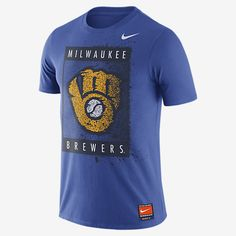 REPRESENT YOUR TEAM The Nike Cooperstown SNL Graphic (MLB Brewers) Men's T-Shirt features a large, modern team graphic on super-soft fabric. Product Details MLB Cooperstown Collection Rib crew neck with interior taping Fabric: 50% polyester/25% cotton/25% rayon Machine wash Imported