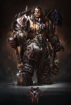 Orcs - Cesrog by Anatoliy Aliev Fantasy Races, High Fantasy, Medieval Fantasy, World Of Warcraft Orc, Warcraft Art, Orc Warrior, Fantasy Warrior, Futuristic Art, Epic Art