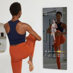 MIRROR Stretch classes are the ultimate form of self care. Take time to recover from the comfort of your home. Visit Mirror.co for more information. #SeeYourself See Yourself, Home Gym Mirrors, Cool Inventions, At Home Gym, Deco, Self Care, Product Design, Fitness, Gadgets