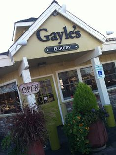 Gayle's Bakery (Capitola, California).  Great place for an early morning coffee and pastry to take to the cliffs and watch surfers.