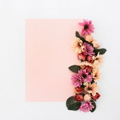 Pink frame with flowers around Free Phot. Theme Background, Flower Background Wallpaper, Geometric Background, Watercolor Background, Background Patterns, Feather Texture, Rose Gold Texture, Watercolor Paper Texture, Pink Watercolor