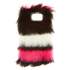 """<!-- mp_trans_remove_start=""""FR"""" --><P>This plush Samsung Galaxy®6 case is so soft that it could be a pillow. Black, white and pink fur make up the front of the phone case and for added glam points, rhinestones and a white bow outline the camera.</P> - <UL> - <LI>Fits Samsung Galaxy®6<li>Apple Inc. is not responsible for this product. iPhone® and iPod® touch are registered trademarks of Apple Inc.</li> <li> Samsung Elect..."""