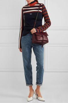 ba277fc71ab4 BOTTEGA VENETA Saddle elegant small intrecciato merlot leather shoulder bag