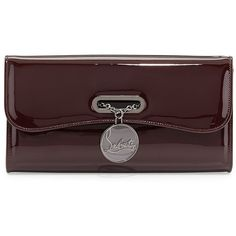 Christian Louboutin Riviera Patent Clutch Bag, Bordeaux featuring polyvore, women's fashion, bags, handbags, clutches, borse, clutches / wallets / purses, purses, chain handbags, chain-strap handbags, man bag, handbags purses and christian louboutin