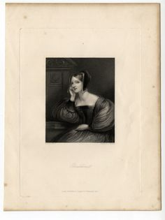 1836 Geraldine - Print from engraving. Browse our Ebay Store to see this print at: http://www.sleekburnprints.com/