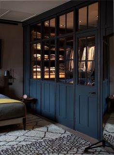 Deep Blue walk-in wardrobe - Plain English Design I just love the colour honestly Dressing Room Closet, Closet Bedroom, Home Bedroom, Dressing Rooms, Master Closet, Master Bedroom, Walk In Wardrobe, Walk In Closet, Wardrobe Design