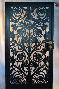 Italian angel entry gate garden custom metal art steel estate wrought iron