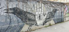 Österreich-Wien-4-Favoritenstrasse 36(Alexis Diaz) Murals, Travelling, Street Art, Bird, Animals, Animales, Animaux, Wall Paintings, Birds