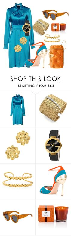 """""""First date"""" by blumbeeno ❤ liked on Polyvore featuring Moschino, Ponte Vecchio, London Road, Gucci, Paula Mendoza, Casadei, CÉLINE, Nest Fragrances and Benedetta Bruzziches"""