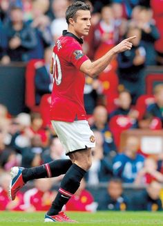 ~ Robin van Persie of Manchester United celebrating his goal against Crystal Palace ~