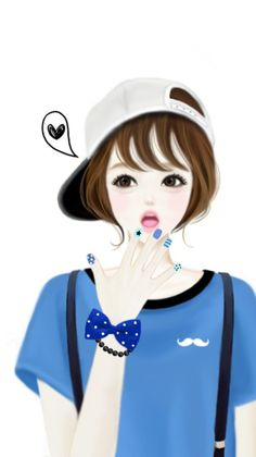 Enakei, girl, and kawaii image Girly M, Cartoon Girl Images, Cute Cartoon Girl, Korean Illustration, Cute Illustration, Anime Korea, Lovely Girl Image, Anime Lindo, Cute Girl Wallpaper