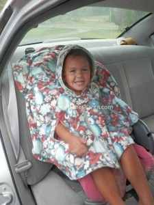 These adorable car seat ponchos work great for kids in car seats!