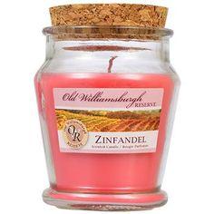 Old Williamsburgh Reserve Zinfandel Scented Jar Candle, 3 oz.