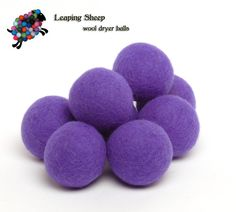 pretty purple dryer balls