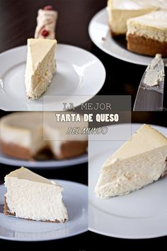 La mejor tarta de queso del mundo Cheesecake Nyc, Chocolate Bonbon, Sin Gluten, Flan, Cheesecakes, Deli, Vanilla Cake, Cake Decorating, Sweet Tooth