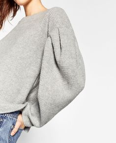 SWEATER WITH PUFF SLEEVES-Sweaters-KNITWEAR-WOMAN-SALE | ZARA United States