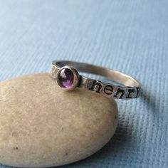 mother's ring w/birthstone and name. I want one...