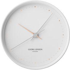 GEORG JENSEN HK CLOCK WHITE 22cm