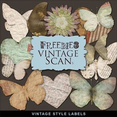 Freebies Vintage Style Kit of Labels