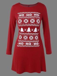 Prezzi e Sconti: #Snowflake print christmas a-line dress  ad Euro 11.62 in #Women #Moda