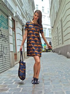 Marc by Marc Jacobs panther print dress