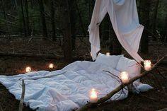 Beautiful outdoor cozy atmosphere