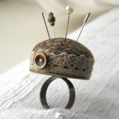 I adore ~hkl Pincushion Ring. by Wychbury, via Flickr