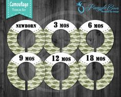 Green Camouflage Baby Boy Closet Dividers to Organize Clothing for Baby Room
