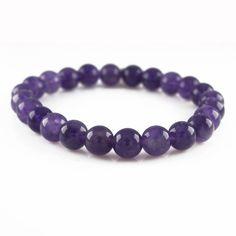 QVC Illuminata by Fragments Stretch Purple Lace Agate Beaded Bracelet H919 #AffinityFashionJewelry #Stretch