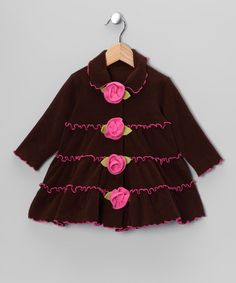 Ruffle Rosette Jacket -Soo cute! Hurry its almost gone!  http://www.zulily.com/invite/jpalmer893/p/brown-tiered-ruffle-rosette-jacket-infant-toddler-girls-24801-2186192.html?tid=social_pinref_shareviaicon_na=2186192