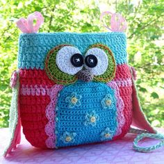 Owl purse - via @Craftsy