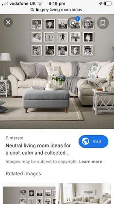 My Ideal Home, Home, Gray And Taupe Living Room, House Rooms, Beige Living Rooms, Living Room Grey, Room Colors, Grey Furniture Living Room, Living Room Decor Gray