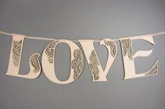 Handmade Wedding Finds Laser Cut LOVE sign